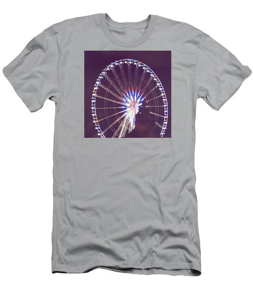 Grande Roue De Paris By Night Men's T-Shirt (Slim Fit)