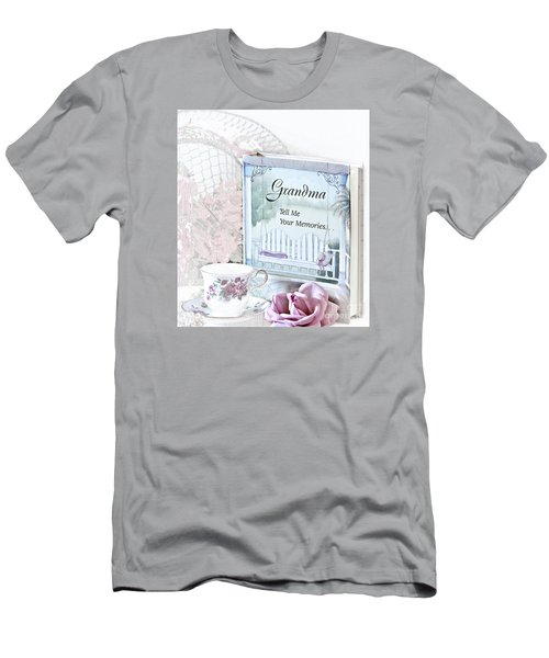 Grandmother...tell Me Your Memories Men's T-Shirt (Slim Fit) by Sherry Hallemeier
