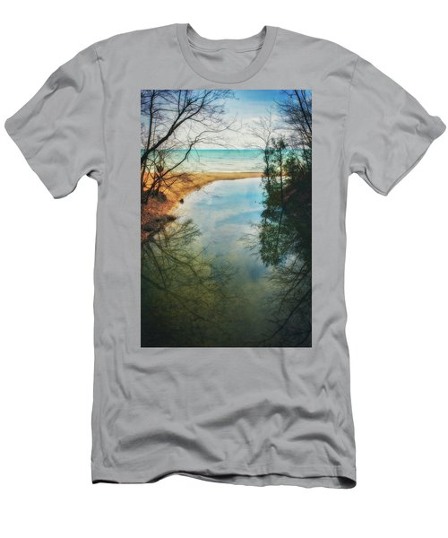 Men's T-Shirt (Slim Fit) featuring the photograph Grant Park - Lake Michigan Shoreline by Jennifer Rondinelli Reilly - Fine Art Photography