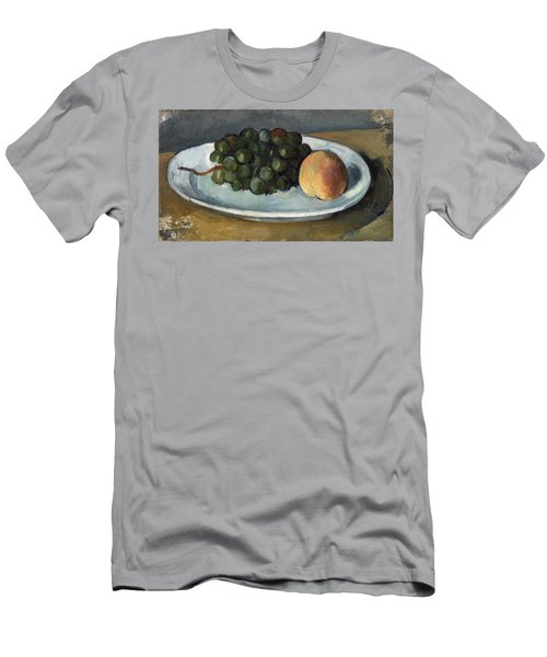 Grapes And Peach On A Plate Men's T-Shirt (Athletic Fit)