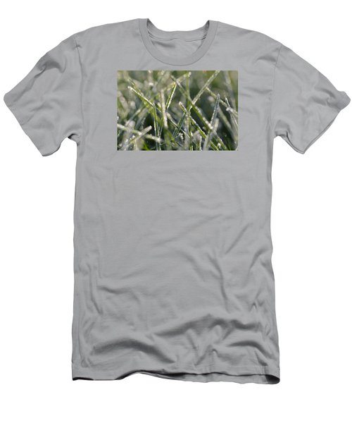 Grass Bokeh Men's T-Shirt (Slim Fit) by Nikki McInnes