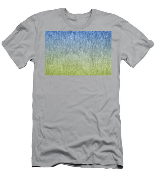Grass On Blue And Green Men's T-Shirt (Slim Fit) by Glenn Gemmell