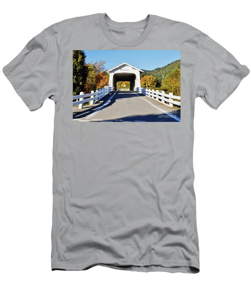 Grave Creek Covered Bridge 1 Men's T-Shirt (Athletic Fit)