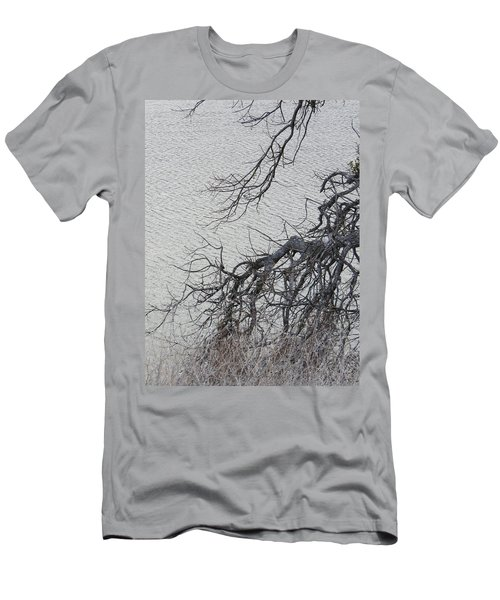 Gray Day At The Lake - Bare Branches Men's T-Shirt (Athletic Fit)