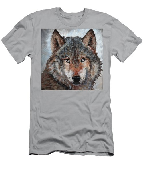 Gray Wolf Men's T-Shirt (Athletic Fit)