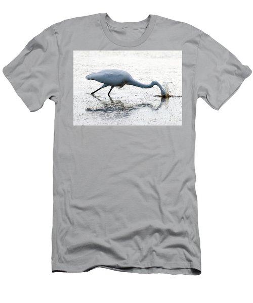 Great Egret Faceplant Men's T-Shirt (Athletic Fit)