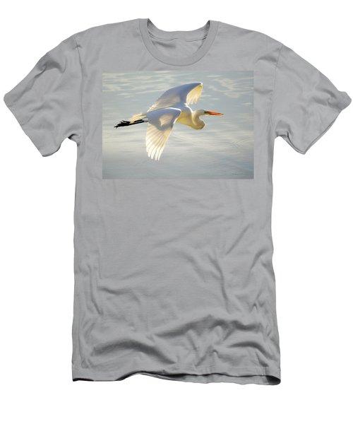 Great Egret Glow Men's T-Shirt (Athletic Fit)