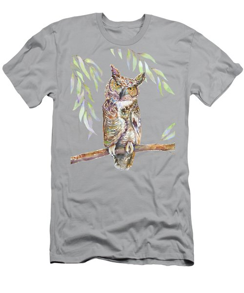 Great Horned Owl  Men's T-Shirt (Slim Fit) by Amy Kirkpatrick