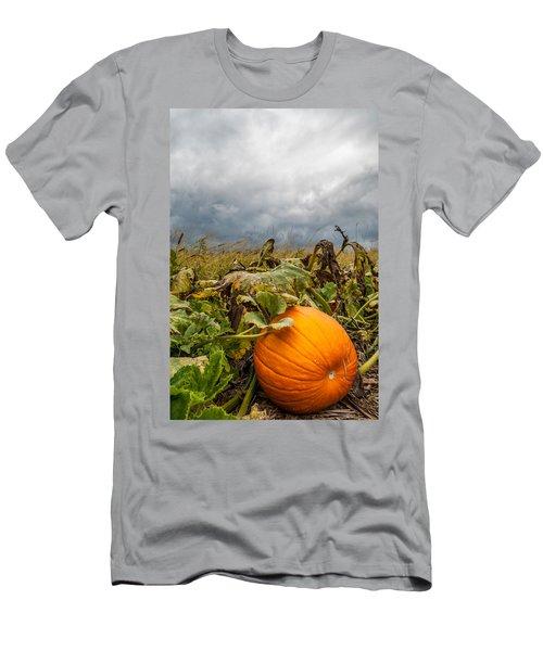Great Pumpkin Off Center Men's T-Shirt (Athletic Fit)
