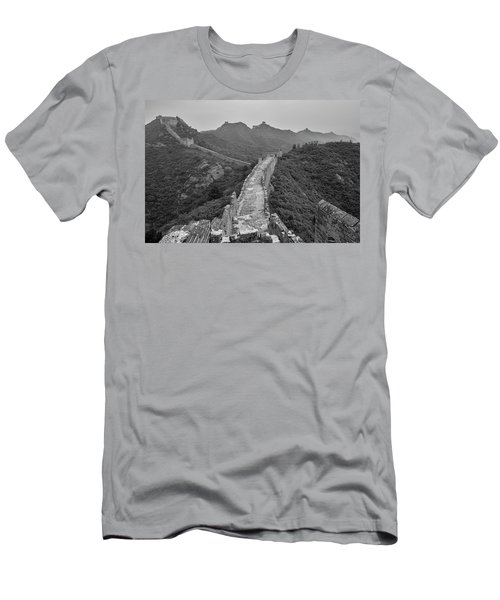 Men's T-Shirt (Slim Fit) featuring the photograph Great Wall 6, Jinshanling, 2016 by Hitendra SINKAR