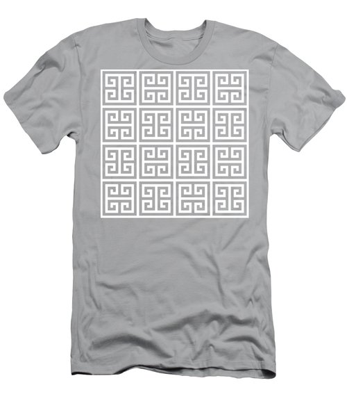 Men's T-Shirt (Slim Fit) featuring the digital art Greek Pattern 2 - Chuck Staley by Chuck Staley