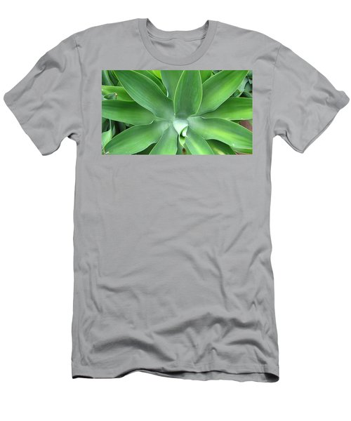 Green Agave Leaves Men's T-Shirt (Athletic Fit)