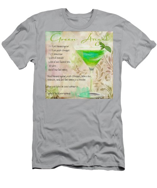 Green Angel Mixed Cocktail Recipe Sign Men's T-Shirt (Athletic Fit)