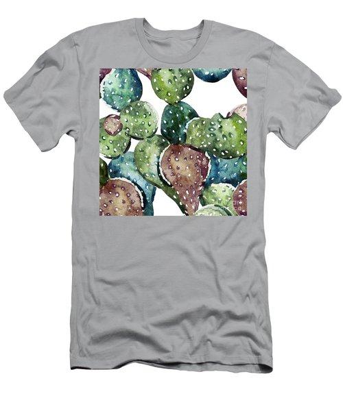Green Cactus  Men's T-Shirt (Athletic Fit)