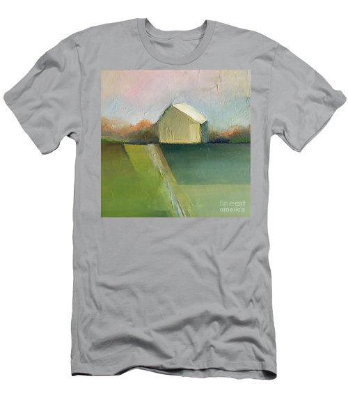 Men's T-Shirt (Athletic Fit) featuring the painting Green Field by Michelle Abrams