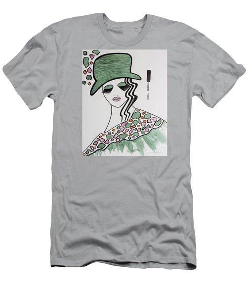 Green Hat Men's T-Shirt (Athletic Fit)