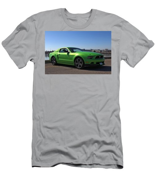 Green Mustang Men's T-Shirt (Athletic Fit)