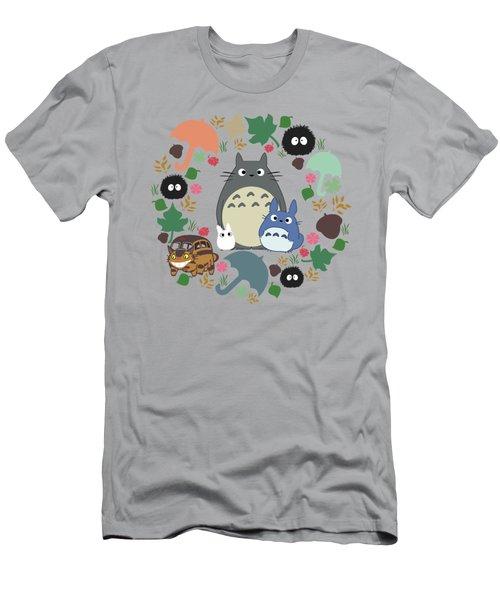 Green Totoro Wreath Men's T-Shirt (Athletic Fit)