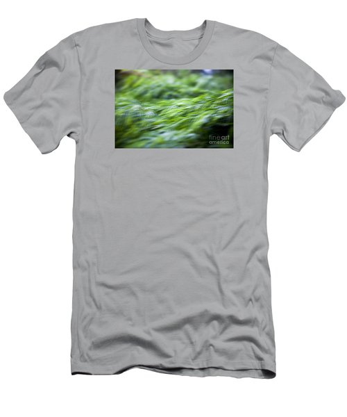 Green Waterfall 1 Men's T-Shirt (Slim Fit) by Serene Maisey
