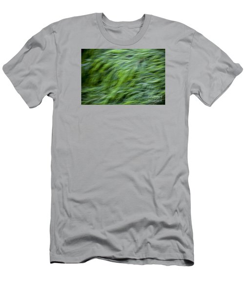 Green Waterfall 2 Men's T-Shirt (Slim Fit) by Serene Maisey