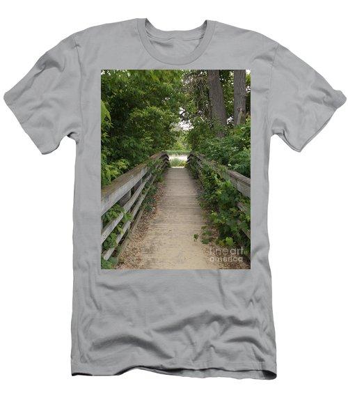 Greenery Bridge Men's T-Shirt (Slim Fit) by Erick Schmidt