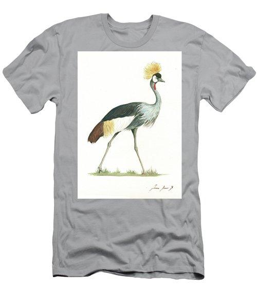 Grey Crowned Crane Men's T-Shirt (Athletic Fit)