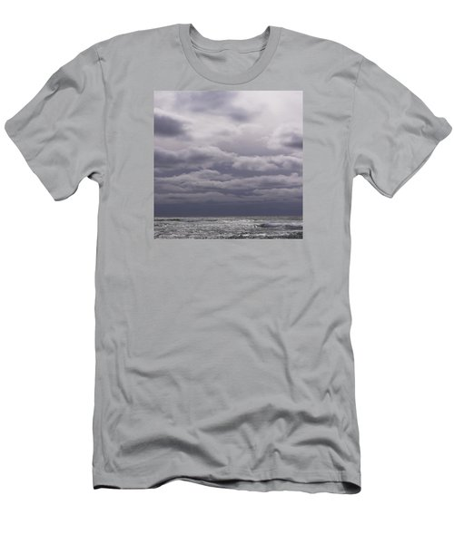 Men's T-Shirt (Slim Fit) featuring the photograph Grey Horizon by Adria Trail