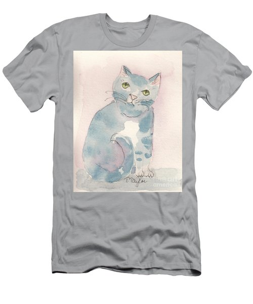 Grey Tabby Men's T-Shirt (Slim Fit) by Terry Taylor