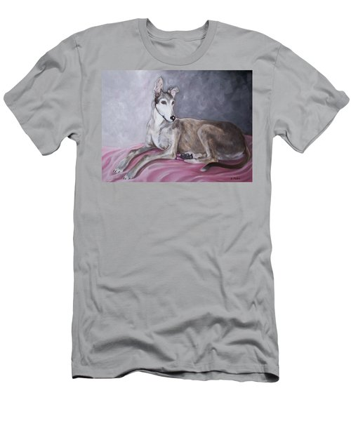 Greyhound At Rest Men's T-Shirt (Athletic Fit)