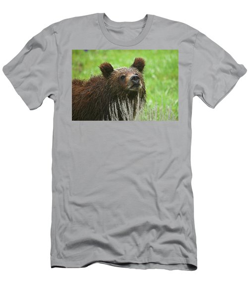 Men's T-Shirt (Slim Fit) featuring the photograph Grizzly Cub by Steve Stuller