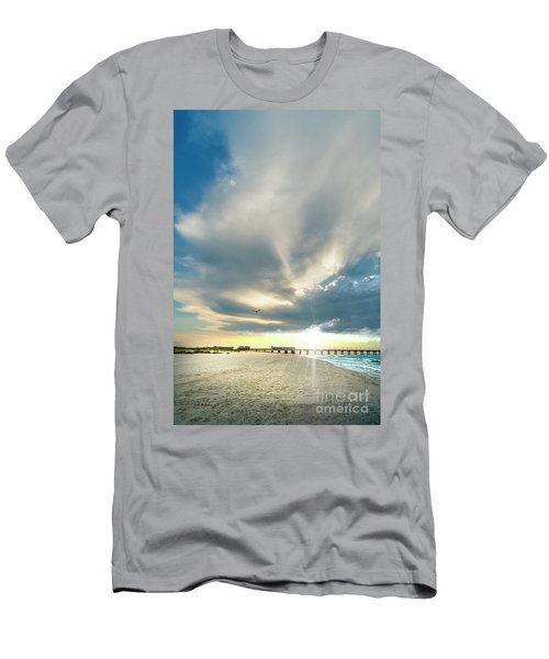 Gulf Shores Al Pier Seascape Sunrise 152a Men's T-Shirt (Athletic Fit)