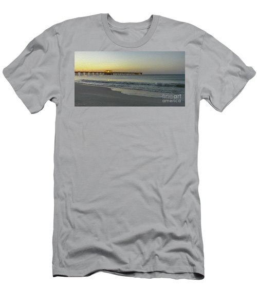 Gulf Shores Alabama Fishing Pier Digital Painting A82518 Men's T-Shirt (Athletic Fit)