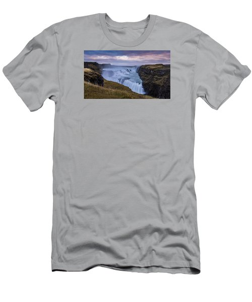 Gullfoss, Sunrise Men's T-Shirt (Athletic Fit)