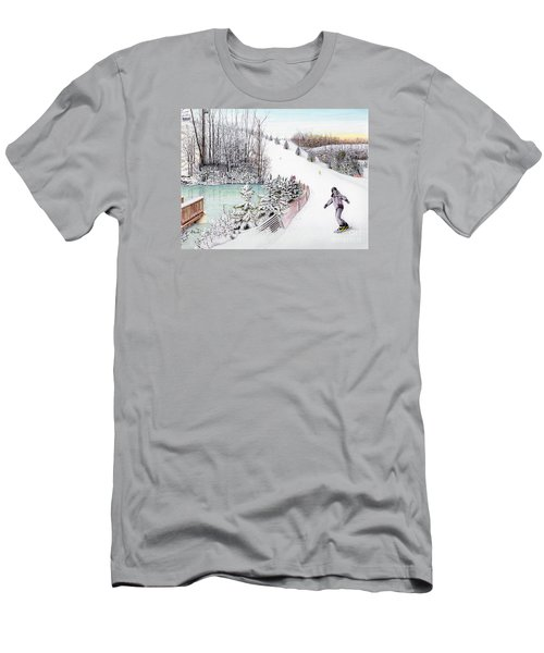 Gunnar Slope And The Ducky Pond Men's T-Shirt (Athletic Fit)