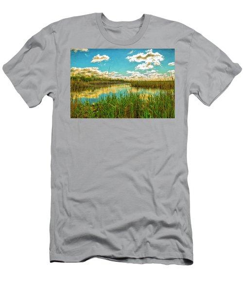 Gunnel Oval By Paint Men's T-Shirt (Slim Fit)
