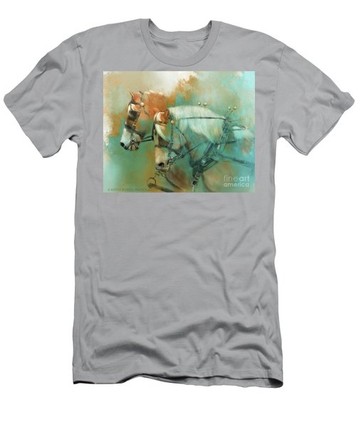 Haflinger Team Men's T-Shirt (Slim Fit) by Kathy Russell