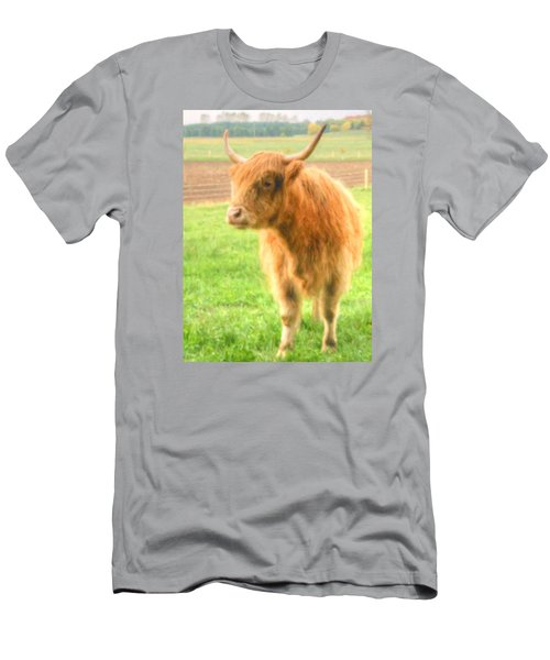 Men's T-Shirt (Athletic Fit) featuring the photograph Hairy Coos by Garvin Hunter