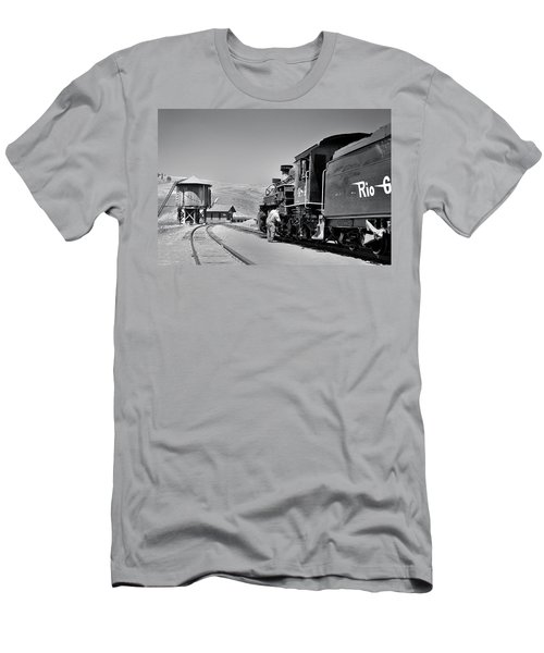 Men's T-Shirt (Athletic Fit) featuring the photograph Half Way by Ron Cline