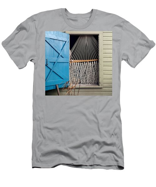 Hammock In Key West Window Men's T-Shirt (Athletic Fit)