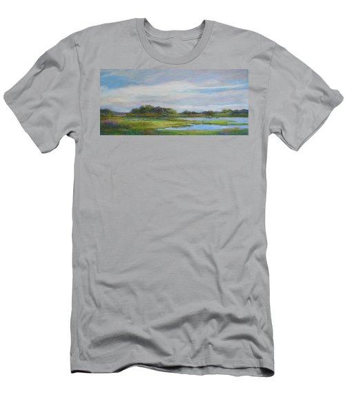 Men's T-Shirt (Slim Fit) featuring the painting Hammonassett Sky by Vikki Bouffard