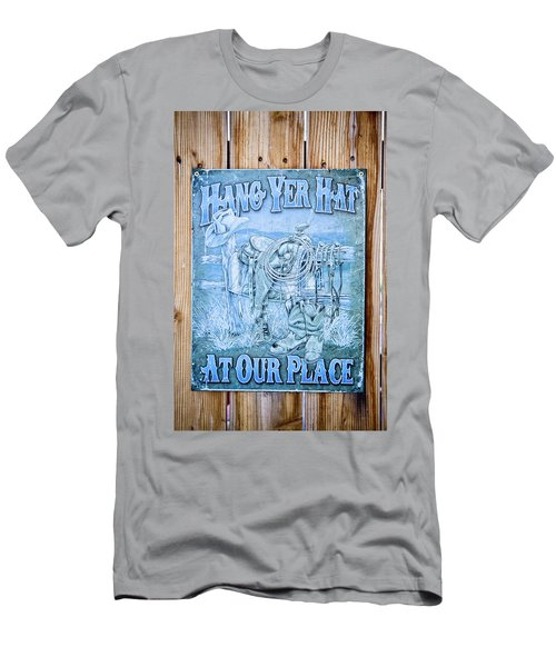 Hang Yer Hat At Our Place Men's T-Shirt (Athletic Fit)
