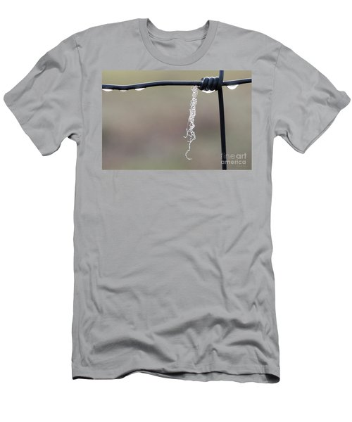 Men's T-Shirt (Athletic Fit) featuring the photograph Hanging By A Thread by Linda Lees