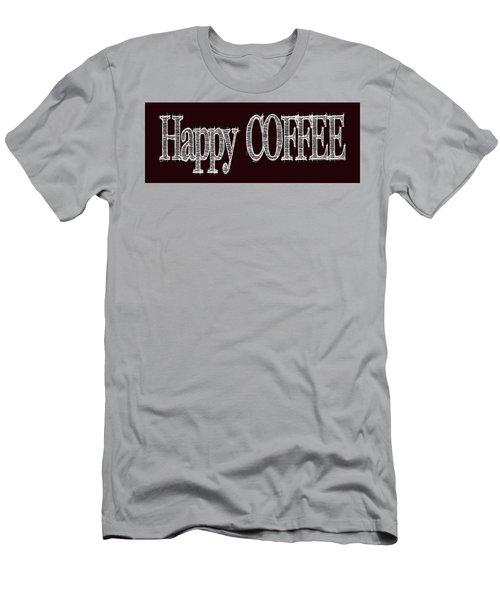 Happy Coffee Mug 2 Men's T-Shirt (Slim Fit) by Robert J Sadler