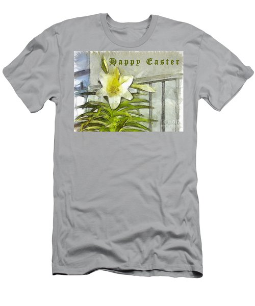 Men's T-Shirt (Athletic Fit) featuring the photograph Happy Easter Lily by Claire Bull