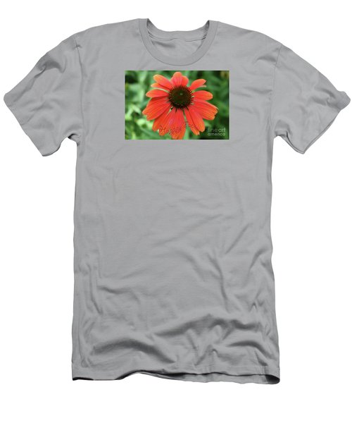 Happy Face Flower Men's T-Shirt (Athletic Fit)