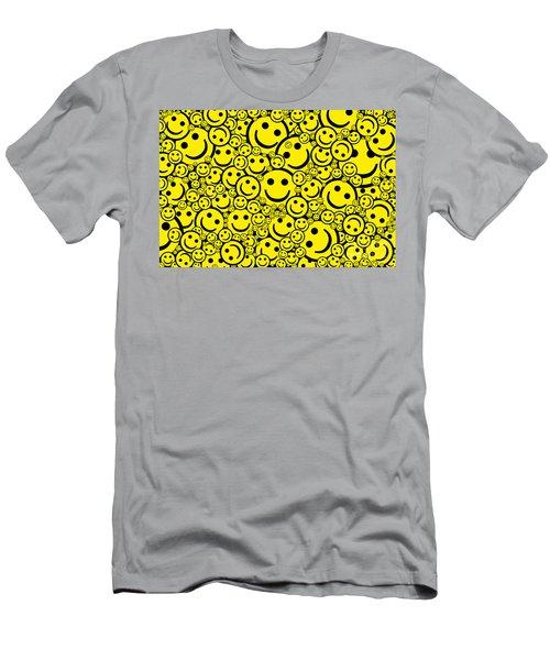 Happy Smiley Faces Men's T-Shirt (Athletic Fit)