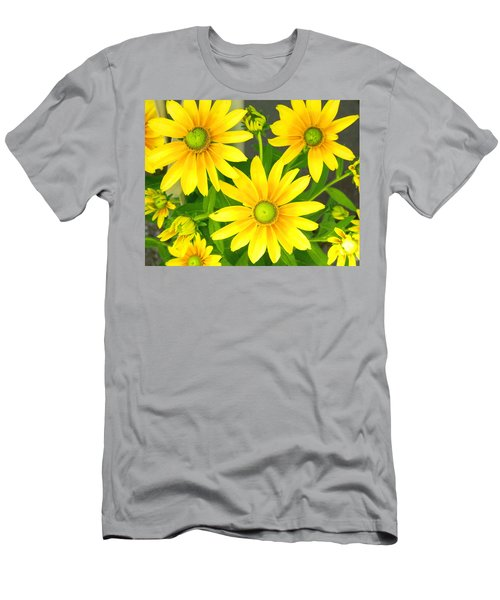 Happy Yellow Summer Cone Flowers In The Garden Men's T-Shirt (Athletic Fit)
