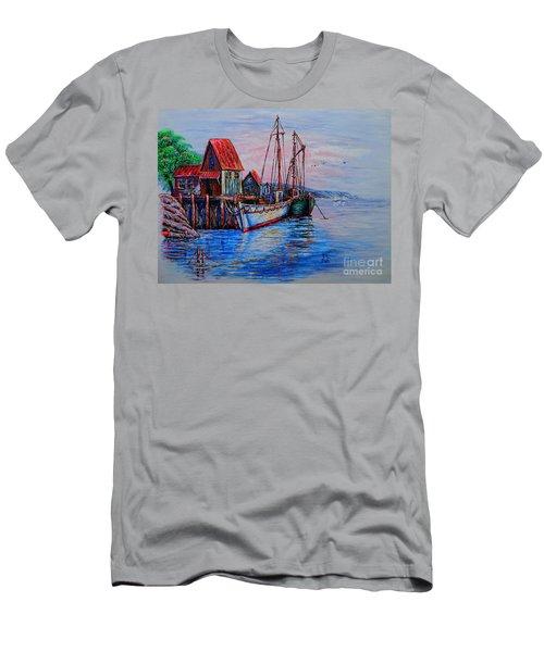 Harbour Men's T-Shirt (Slim Fit) by Viktor Lazarev