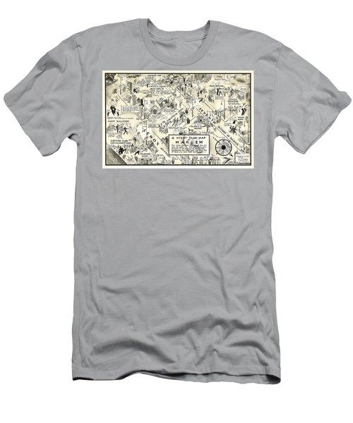 Harlem Prohibition Nightclub Map 1926 Men's T-Shirt (Athletic Fit)