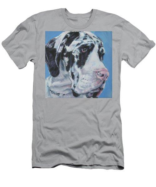 harlequin Great Dane Men's T-Shirt (Athletic Fit)